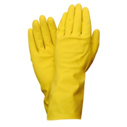 Guantes Latex 100% Basic Domesticos L (Par)