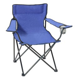 Silla Playa Metal Pescador Plegable Azul
