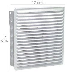 Rejilla Ventilacion Empotrar 17x17 cm. Blanca Lacada